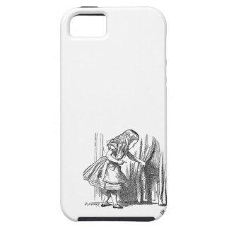 Vintage Alice in Wonderland looking for the door iPhone 5 Cases