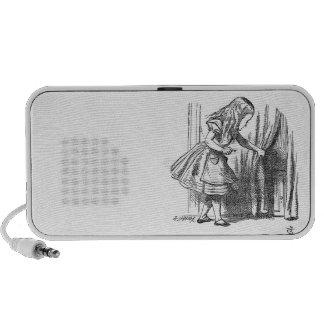 Vintage Alice in Wonderland looking for the door Mp3 Speaker