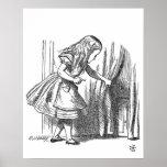 Vintage Alice in Wonderland looking for the door Poster