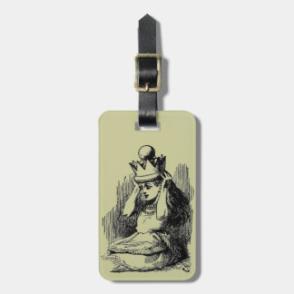 Vintage Alice in Wonderland Luggage Tag