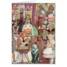 Vintage Alice in Wonderland, Queen of Hearts Card