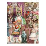 Vintage Alice in Wonderland, Queen of Hearts Post Card