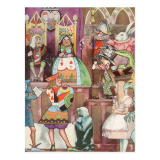Vintage Alice in Wonderland, Queen of Hearts Postcard