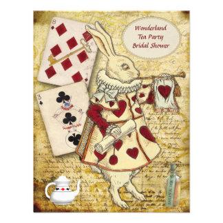Vintage Alice in Wonderland Rabbit Bridal Shower Personalized Invitations