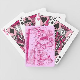 Vintage Alice in Wonderland Tea Party Bicycle Playing Cards
