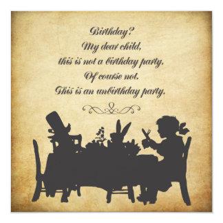 Vintage Alice in Wonderland Tea Party Birthday 13 Cm X 13 Cm Square Invitation Card