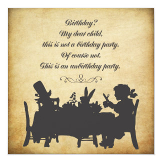 Vintage Alice in Wonderland Tea Party Birthday Card