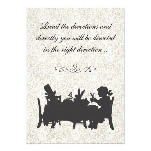Vintage Alice in Wonderland Tea Party Birthday Announcements