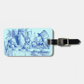 Vintage Alice in Wonderland Tea Party Luggage Tag