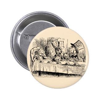 Vintage Alice in Wonderland, Tea Party Scene 6 Cm Round Badge