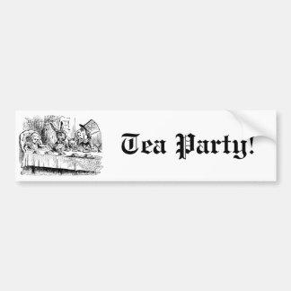 Vintage Alice in Wonderland, Tea Party Scene Bumper Stickers