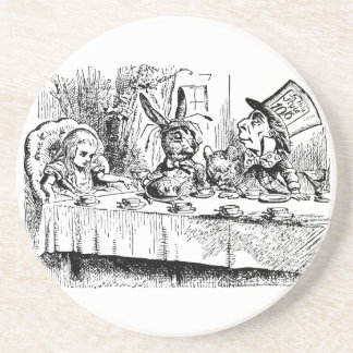 Vintage Alice in Wonderland, Tea Party Scene Drink Coaster