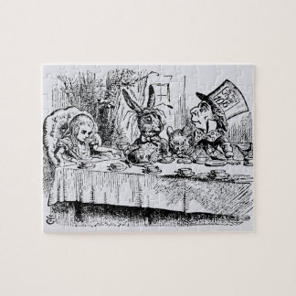 Vintage Alice in Wonderland, Tea Party Scene Jigsaw Puzzle