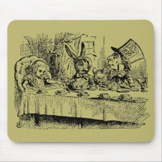 Vintage Alice in Wonderland, Tea Party Scene Mouse Pad