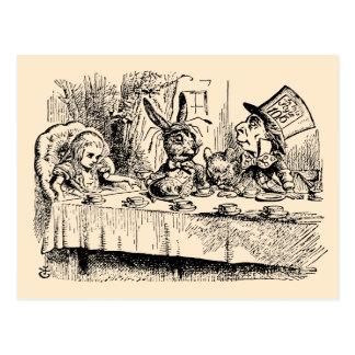 Vintage Alice in Wonderland, Tea Party Scene Postcard
