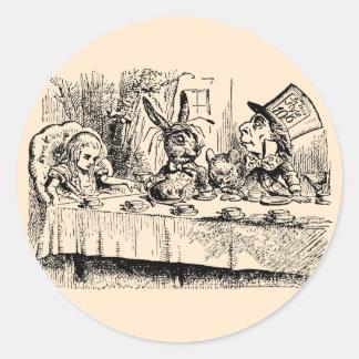 Vintage Alice in Wonderland, Tea Party Scene Stickers