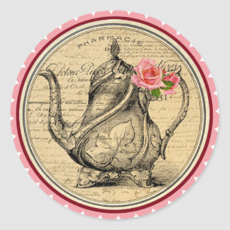Vintage Alice in Wonderland Tea Party Stickers
