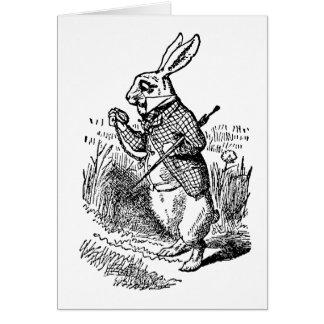 Vintage Alice in Wonderland the White Rabbit Watch Greeting Card