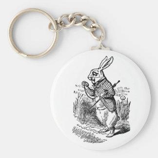 Vintage Alice in Wonderland the White Rabbit Watch Key Chains