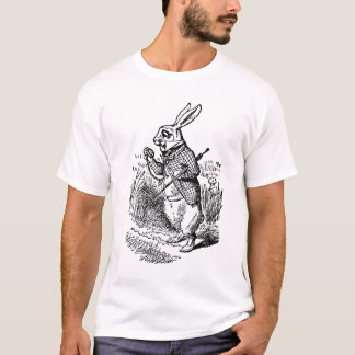 Vintage Alice in Wonderland the White Rabbit Watch T-Shirt