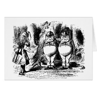 Vintage Alice in Wonderland, Tweedledum Tweedledee Greeting Card