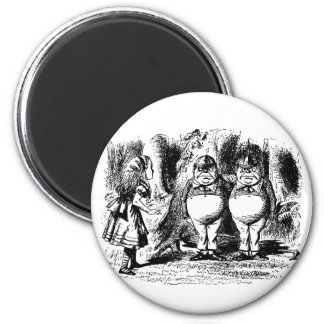 Vintage Alice in Wonderland, Tweedledum Tweedledee Magnet