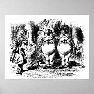 Vintage Alice in Wonderland, Tweedledum Tweedledee Poster