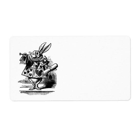 Vintage Alice in Wonderland White Rabbit as Herald