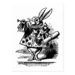 Vintage Alice in Wonderland White Rabbit as Herald Postcard