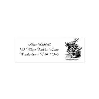Vintage Alice in Wonderland White Rabbit as Herald Self-inking Stamp
