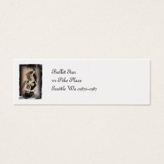 Vintage Alice inn Wonderland Ballet Mini Business Card