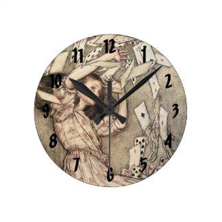 Vintage Alice's Adventures in Wonderland, Rackham Clocks