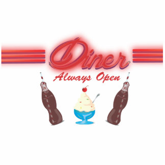 Vintage All American Diner Photo Cutout
