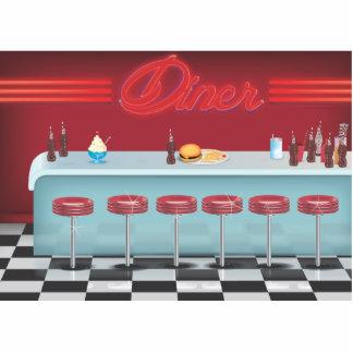 Vintage All American Diner Standing Photo Sculpture