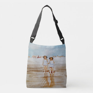 Vintage All-Over-Print Cross Body Bag Beach Beauty
