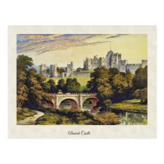 Vintage Alnwick Castle Northumberland Postcard