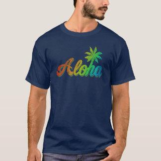 Vintage Aloha T-Shirt  - Classic Rainbow Hawaii