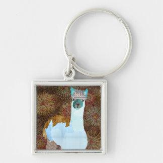 Vintage Alpaca Art Keychain