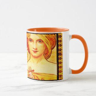 Vintage Alphons Mucha Coffee Mug-High Spirits Mug