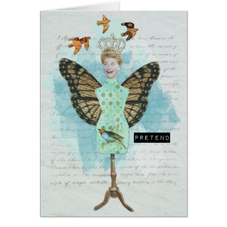 Vintage Altered Art Collage Notecard