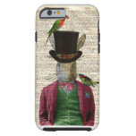 Vintage Altered Art Rabbit Book Page iPhone 6 case Tough iPhone 6 Case