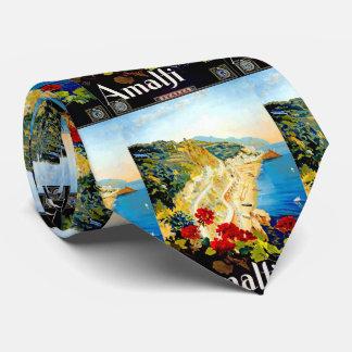 Vintage Amalfi Italy Europe Travel Tie