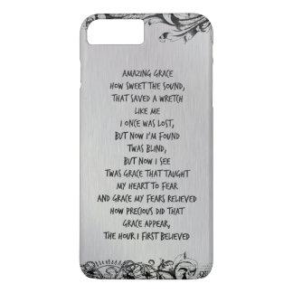Vintage Amazing Grace Hymn Lyrics iPhone 7 Plus Case