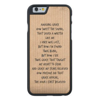 Vintage Amazing Grace Hymn Carved® Maple iPhone 6 Case