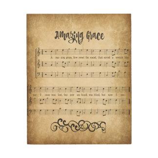 Vintage Amazing Grace Wood Print
