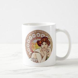 Vintage Amber Art Mugs