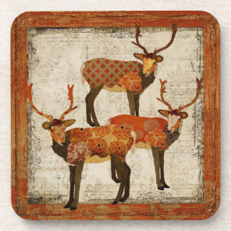Vintage Amber Bucks Coaster