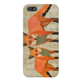 Vintage Amber Foxes i iPhone 5 Cover