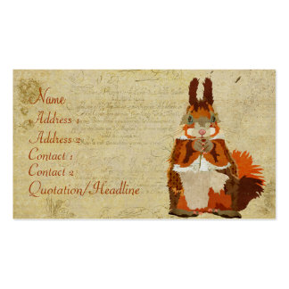 Vintage Amber Squirrel Business Card