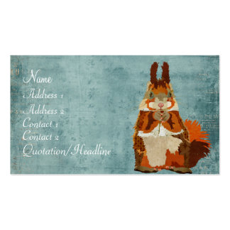 Vintage Amber Squirrel Business Card
